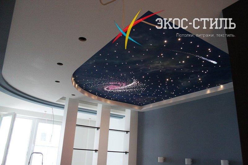 фото потолков натяжных звездное небо